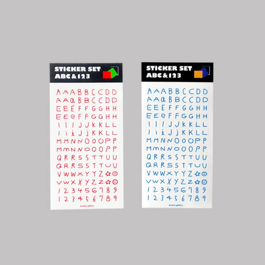 캐리마켓 -  STICKER SET - ABC & 123 (RGB/YBB)