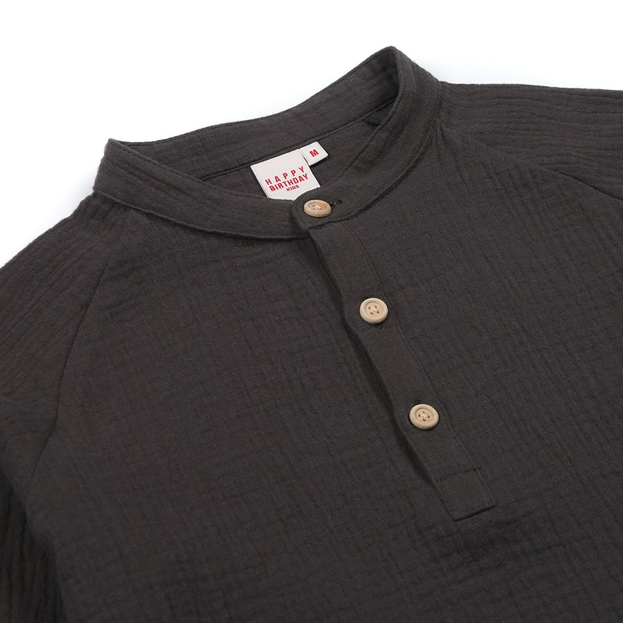 GRANPA SHIRT_COTTON DOUBLE GAUZE