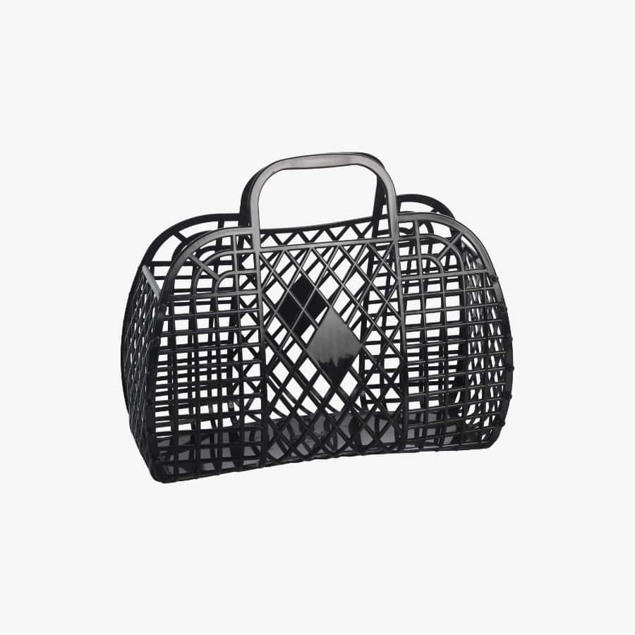캐리마켓 -  Retro Basket Large BLACK