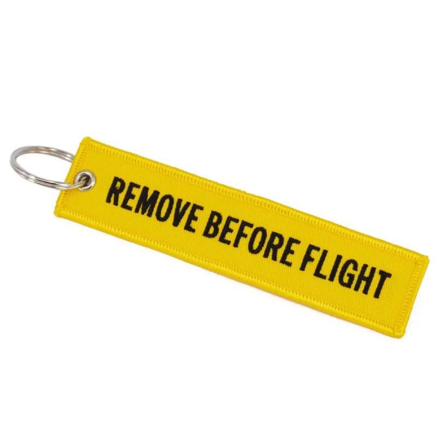 Remove Before Flight 키링 (Yellow)