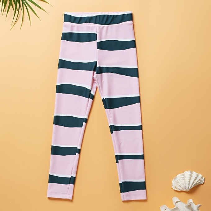 GREEN STRIPE WATER LEGGINGS