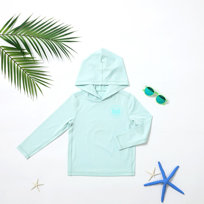 SOLID HOOD RASHGUARD - LIGHT MINT