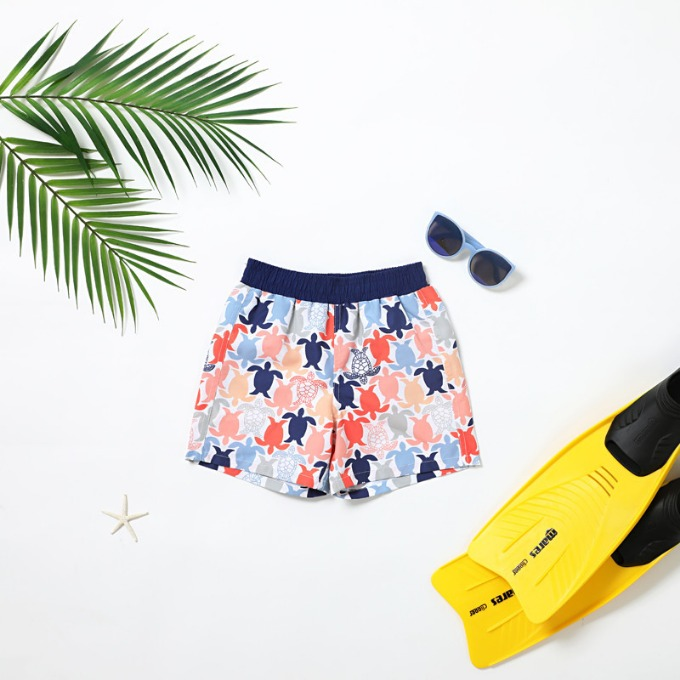 BOY'S SWIM TRUNK - TURTLE