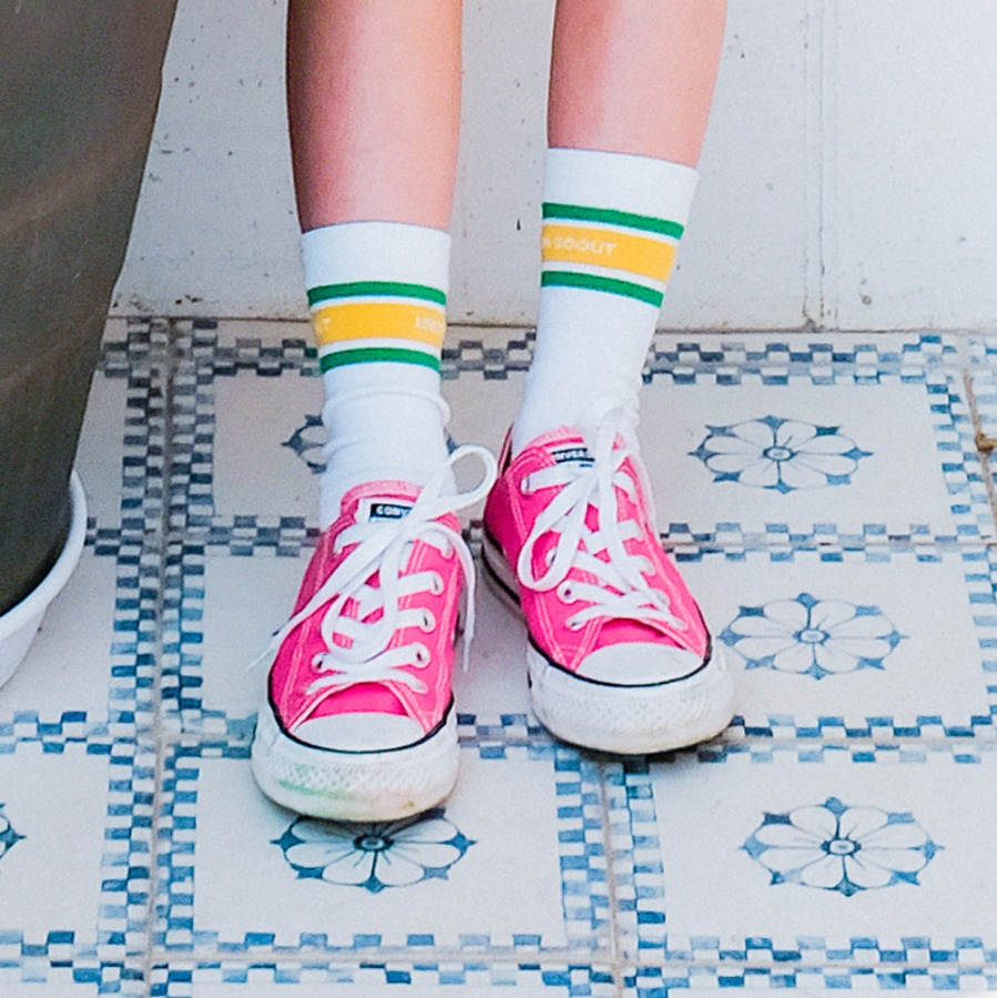 캐리마켓 -  Stripes Socks - Green