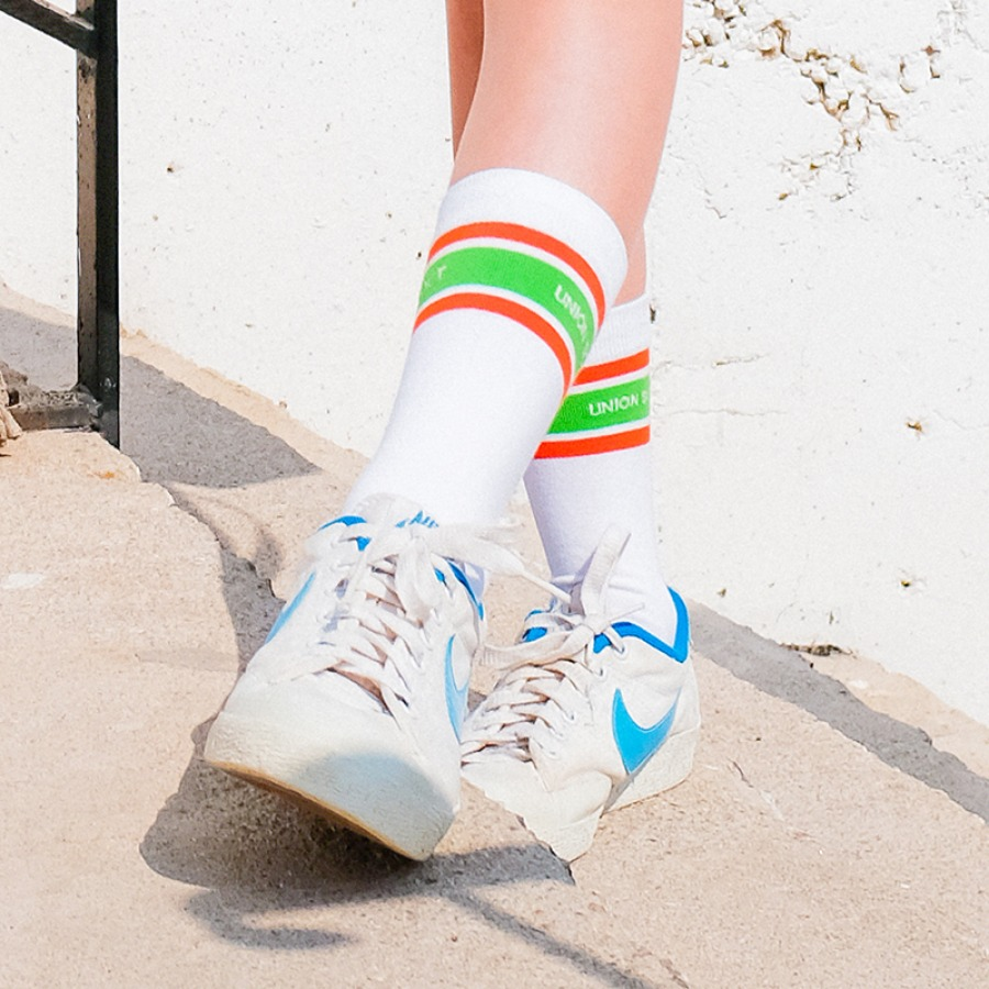 캐리마켓 -  Stripes Socks - Orange
