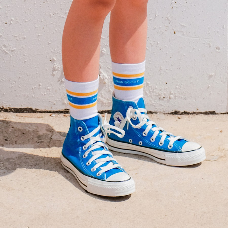캐리마켓 -  Stripes Socks - Yellow
