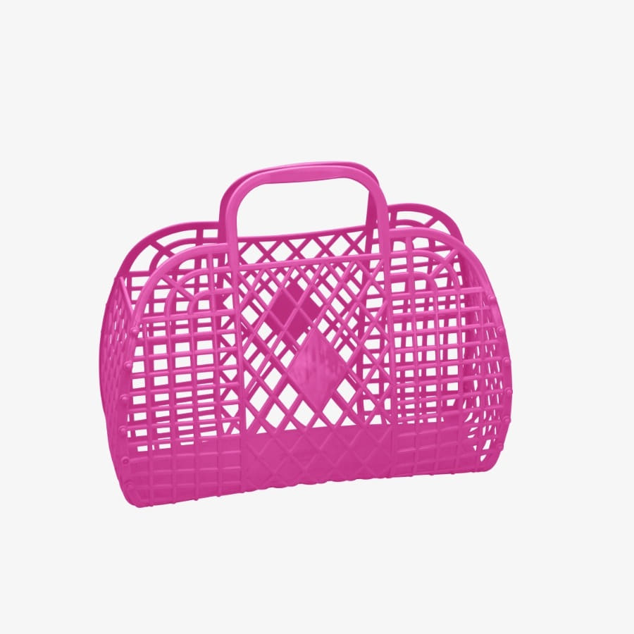 캐리마켓 -  Retro Basket Large HOT PINK