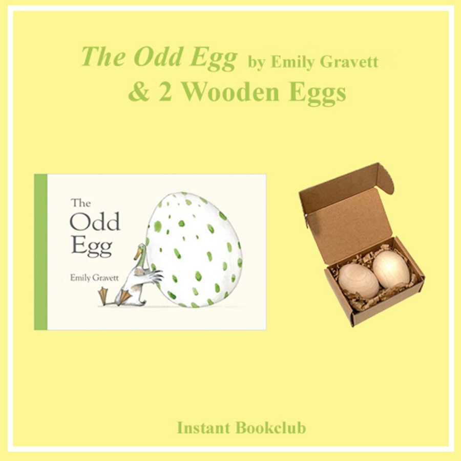 The Odd Egg (Book + 2 wooden eggs)