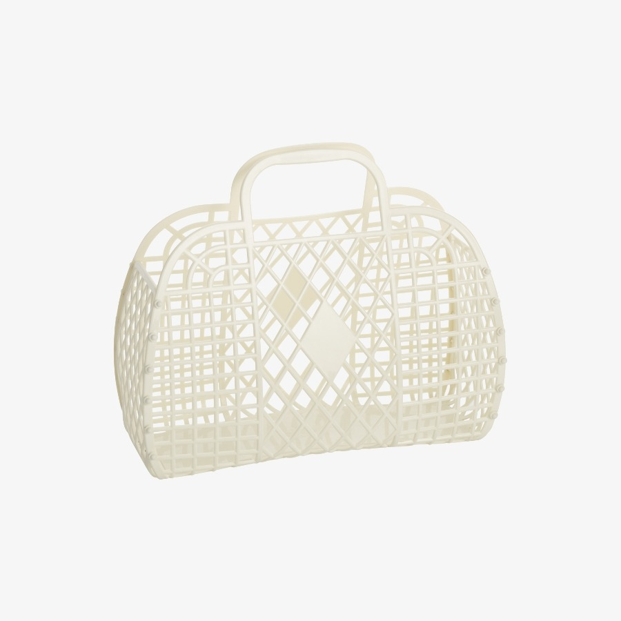 캐리마켓 -  Retro Basket Large CREAM