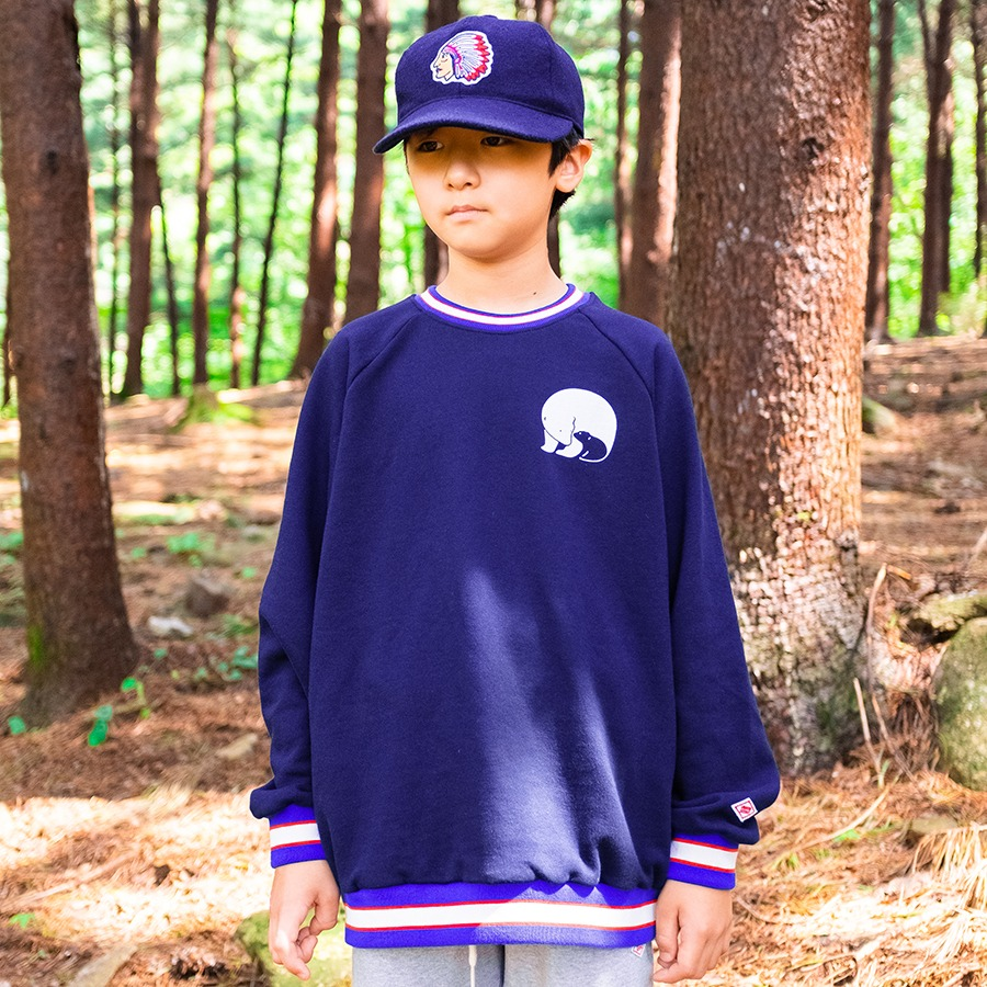 SWEAT RAGLAN SHIRTS - WHITE BEAR