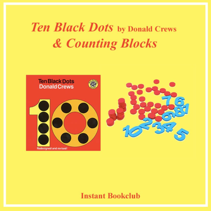 [Instant Book Club] Ten Black Dots (Book + Counting Blocks), Donald Crews