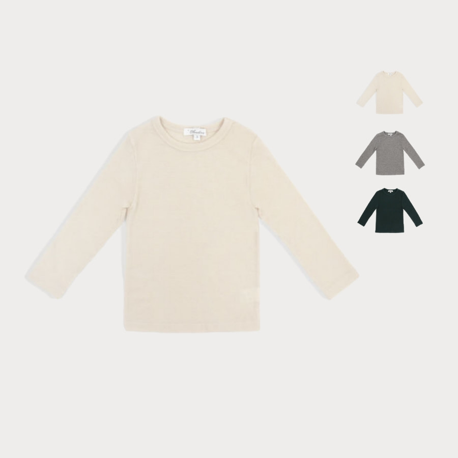 캐리마켓 -  Wool ribbed T-shirt 3Y-8Y