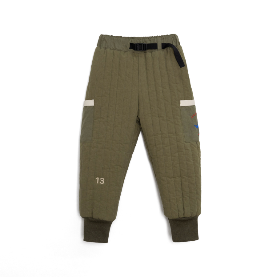 캐리마켓 -  Quilted padding pants - Khaki