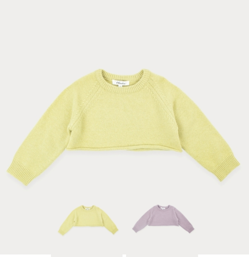 캐리마켓 -  Knitted crop top 4Y-8Y