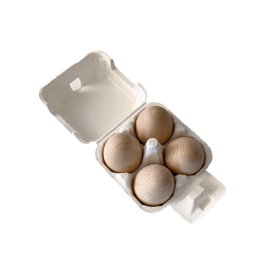 캐리마켓 -  Wooden Eggs (4pc)