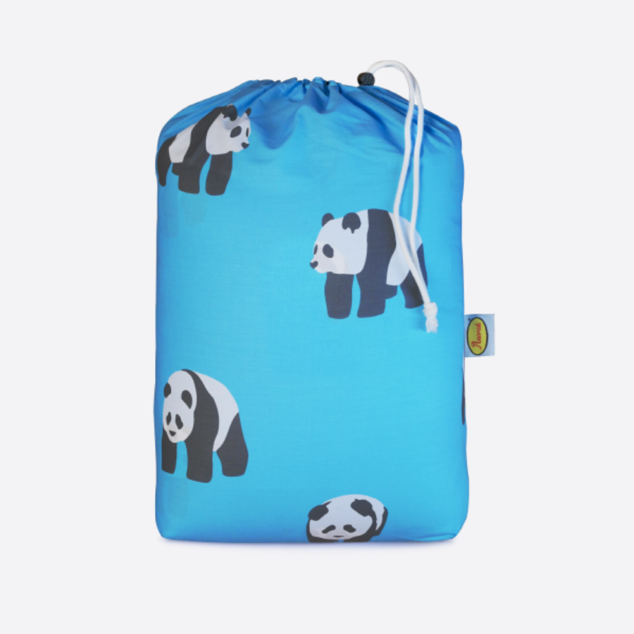캐리마켓 -  Anorak Pandas Organic Cotton Sleeping Bag (Aqua Blue)