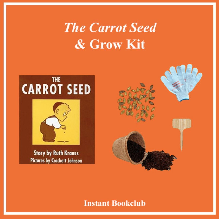 캐리마켓 -  [Instant Writing] The Carrot Seed (Book + Grow Kit+ Kids Working Gloves), 인스턴트 북클럽